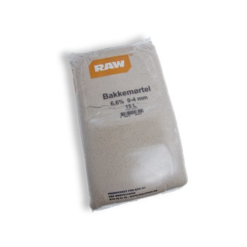 RAW Bakkemørtel 6,6% 0-4 mm