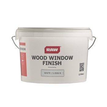 RAW Wood Window Finish