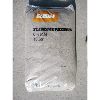 RAW Flise/Muregrus 0-4 mm