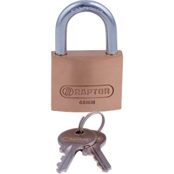 RAPTOR Hængelås med Hærdet Bøjle inkl. 2 Nøgler