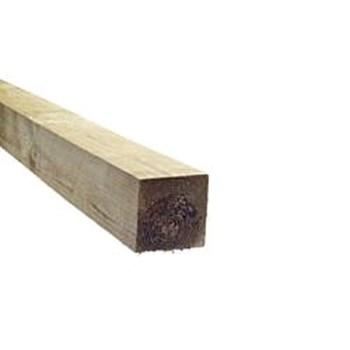 RAW Stolpe Trykimprægneret 75x75 mm, Høvlet og Faset
