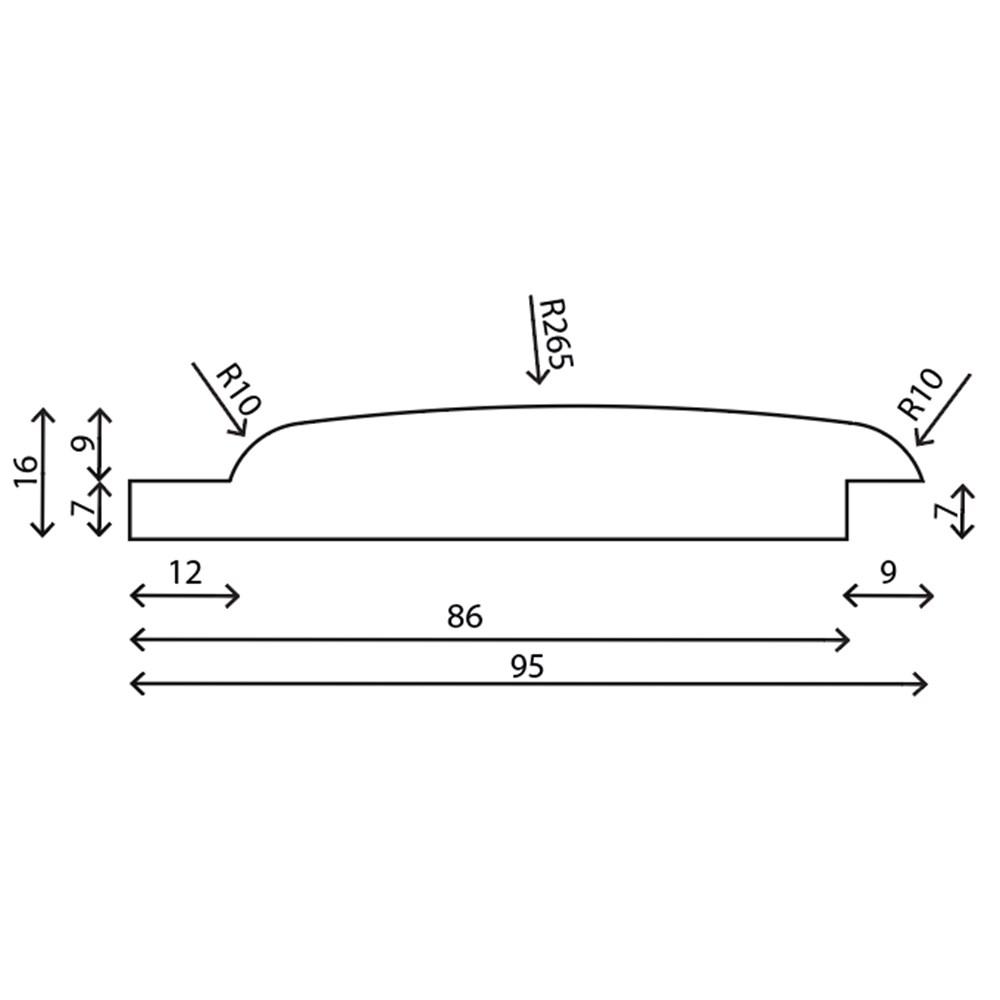 RAW Fyr Seksta Blokhus Profil Trykimprægneret 19x100 mm
