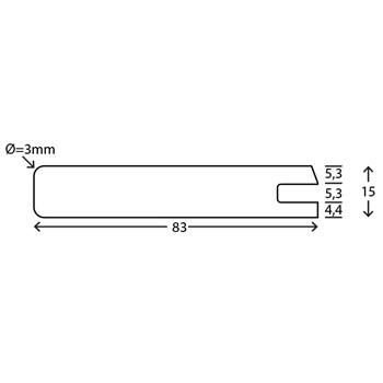 RAW Fyr Profil med not uden fer 19x100 mm