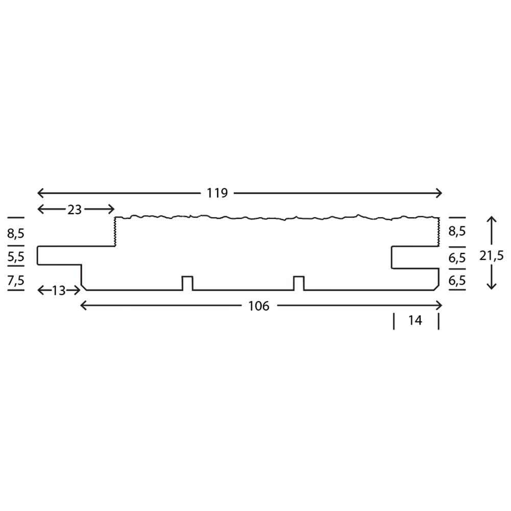 RAW Gran Lige Grøft Trykimprægneret NTR 25x125 mm
