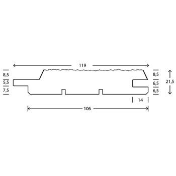 RAW Gran Stern Mellem 25x125 mm Antracit