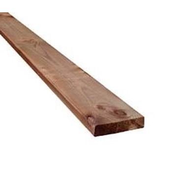 RAW Seksta Brunimprægneret Terrassebrædder 32x125 mm