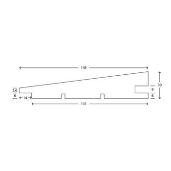 RAW Gran Klink Prof 32x150 mm Hvid