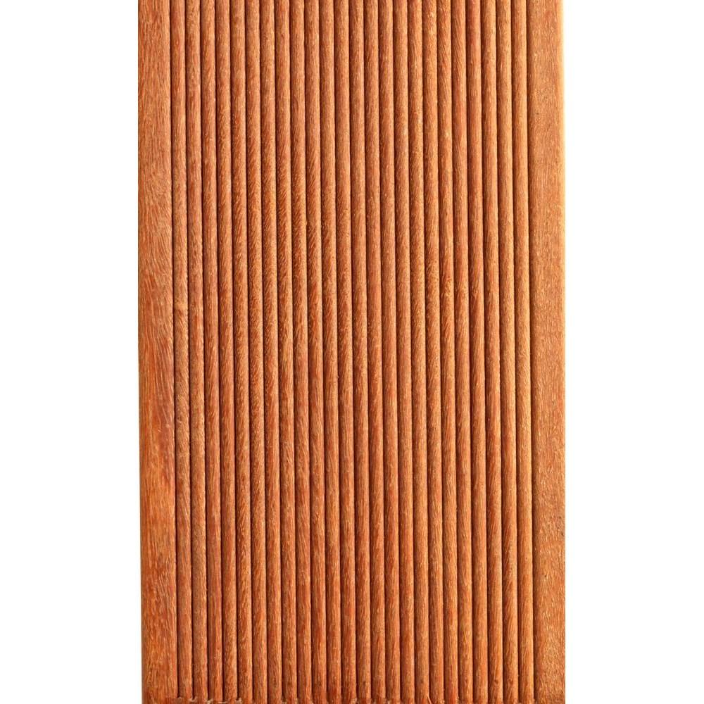 RAW Cumaru Terrassebrædder 21x145 mm Glat/Finrillet