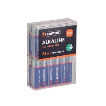RAPTOR AAA/LR03 Alkaline Batteri 24-Pak