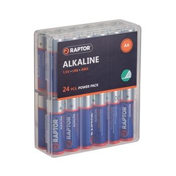RAPTOR AA/LR6 Alkaline Batteri 24-Pak