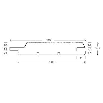 RAW Stern Mellem Trykimprægneret 25x125 mm